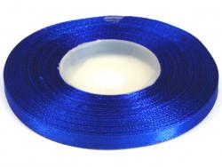 Wstążka satynowa 6mm - niebieska chabrowa
