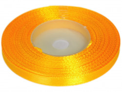 Wstążka satynowa 6mm - żółta ciemna