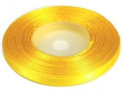 Wstążka satynowa 6mm - żółta