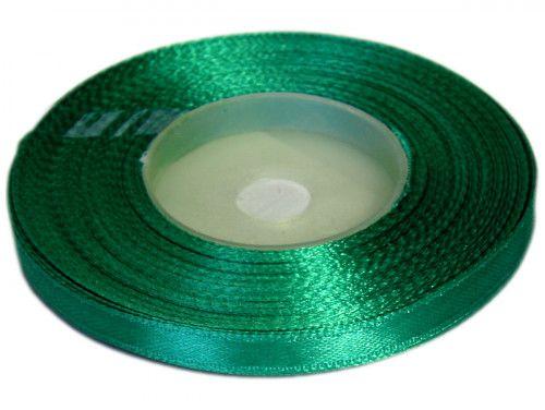 Wstążka satynowa 6mm - zielona szmaragdowa