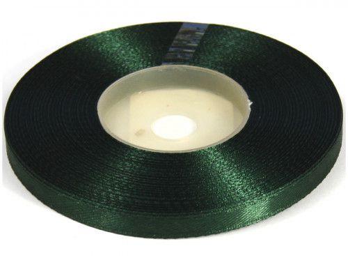Wstążka satynowa 6mm - zielona szmaragdowa ciemna