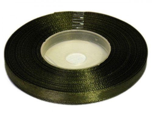 Wstążka satynowa 6mm - zielona ciemna