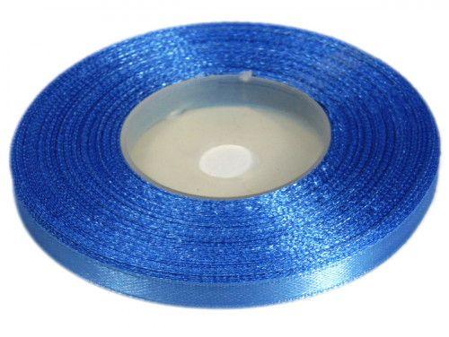 Wstążka satynowa 6mm - niebieska błękitna
