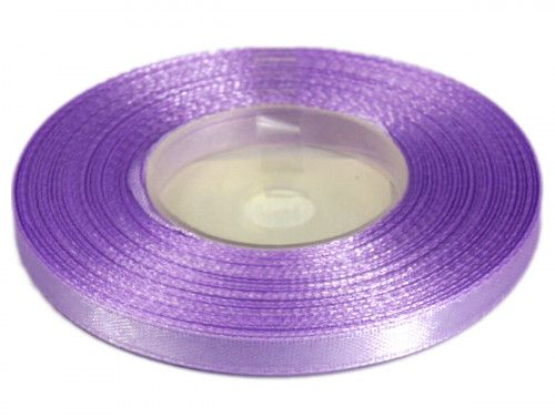 Wstążka satynowa 6mm - fioletowa jasna