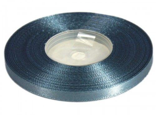 Wstążka satynowa 6mm - szara stalowa