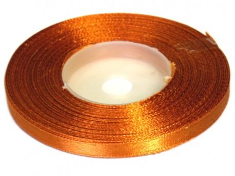 Wstążka satynowa 6mm - złota miedziana