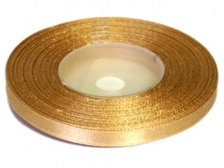 Wstążka satynowa 6mm - złota