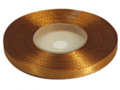 Wstążka satynowa 6mm - złota ciemna