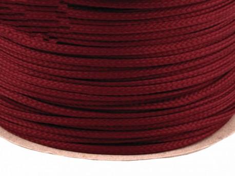 Sznurek poliestrowy 5mm - czerwony wiśniowy 100m