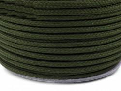 Sznurek poliestrowy 5mm - zielony ciemny