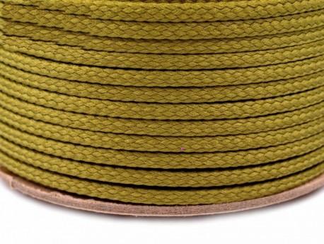 Sznurek poliestrowy 5mm - zielony oliwkowy