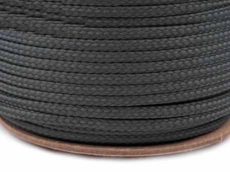 Sznurek poliestrowy 5mm - szary ciemny
