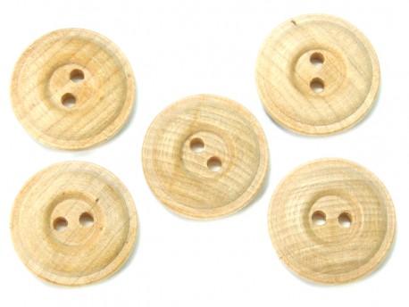 Drewniane guziki - oponka, 23mm