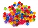 Koraliki kuleczki 6mm mix kolorów 50szt
