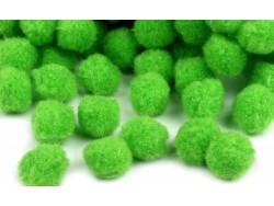 Pomponiki jasne zielone 11mm - 20szt