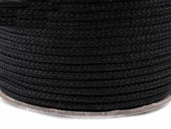 Sznurek poliestrowy 5mm - czarny 170g