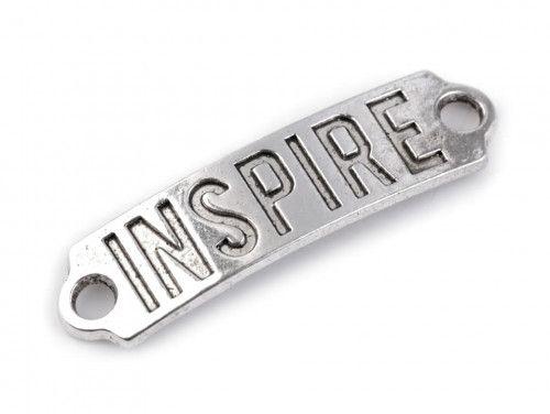 Ozdoba metalowa, łącznik INSPIRE
