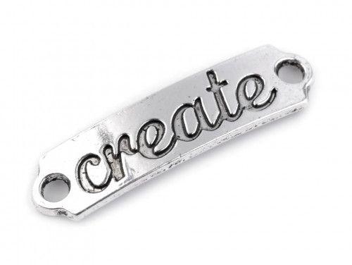 Ozdoba metalowa, łącznik CREATE
