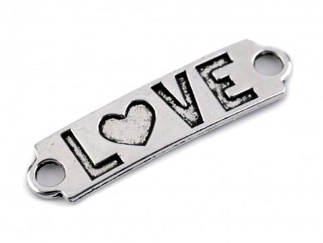 Ozdoba metalowa, łącznik LOVE