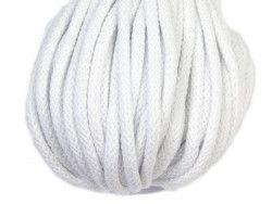 Sznurek bawełniany 5mm biały 50m
