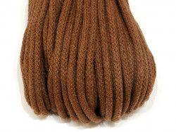Sznurek bawełniany 5mm brązowy jasny 50m