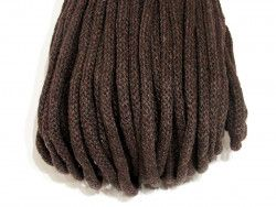 Sznurek bawełniany 5mm brązowy 50m
