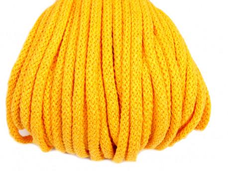 Sznurek bawełniany 5mm żółty