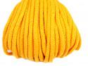 Sznurek bawełniany 5mm żółty 50m