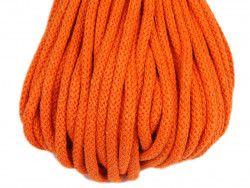 Sznurek bawełniany 5mm pomarańczowy 50m
