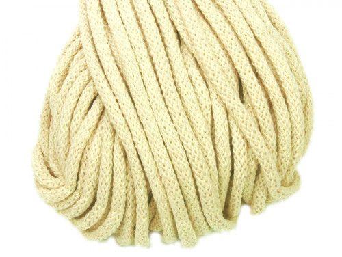 Sznurek bawełniany 5mm naturalny