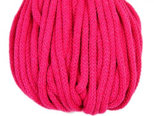 Sznurek bawełniany 5mm różowy amarantowy 50m