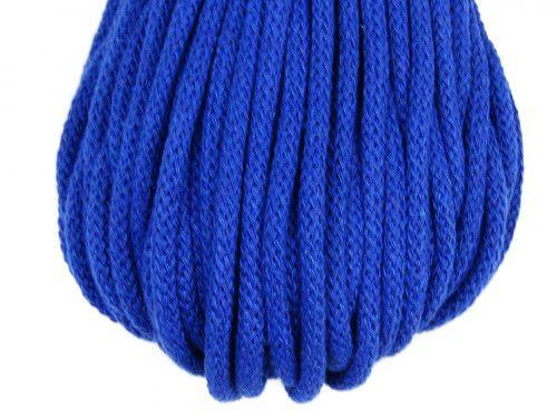 Sznurek bawełniany 5mm niebieski chabrowy 50m