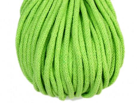 Sznurek bawełniany 5mm zielony jasny 50m