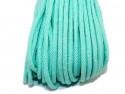Sznurek bawełniany 5mm zielony miętowy 50m