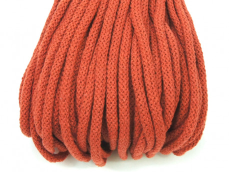 Sznurek bawełniany 5mm pomarańczowy rudy
