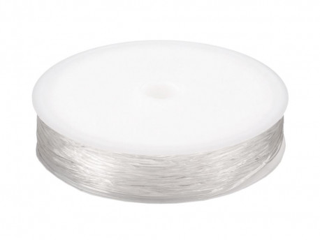 Żyłka okrągła elastyczna 0,6-0,8mm przeźroczysta