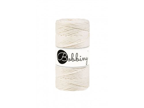 Sznurek bawełniany skręcany 3mm naturalny BOBBINY