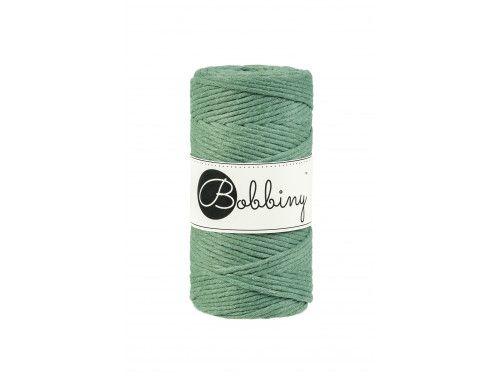 Sznurek bawełniany skręcany 3mm zielony pastelowy BOBBINY
