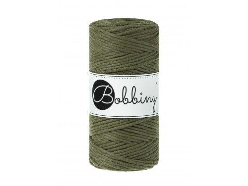 Sznurek bawełniany skręcany 3mm zielony awokado BOBBINY