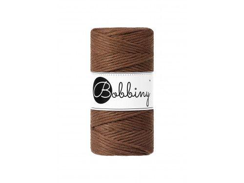 Sznurek bawełniany skręcany 3mm brązowy mokka BOBBINY