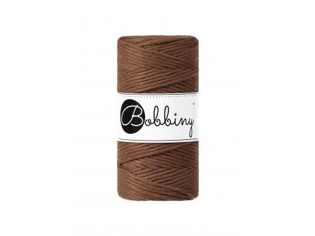 Sznurek bawełniany skręcany 3mm brązowy jasny mocha BOBBINY