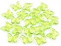 Koraliki motylki zielone 15x18mm