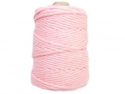 Sznurek bawełniany 5mm skręcany różowy jasny 100m