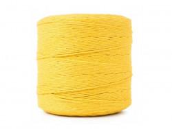 Sznurek bawełniany 2mm skręcany żółty 300m