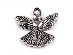 Zawieszka metalowa anioł rzeźbiony