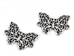 Zawieszka, łącznik metalowy motyl ażurowy