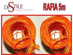 Rafia Dekoracyjna 8mm - Pomarańczowy