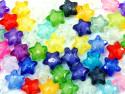Koraliki gwiazdki 11mm mix kolorów 50szt