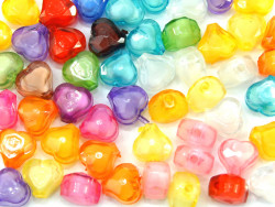 Koraliki serca 12mm mix kolorów 50szt