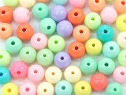Koraliki kuleczki 9mm pastelowe 50szt